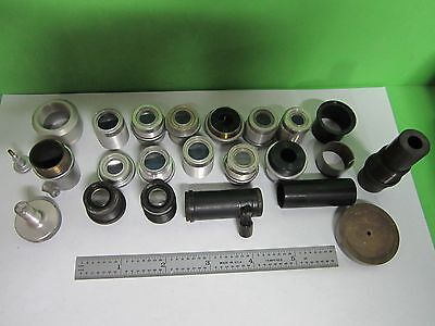 Lot Parts For Gaertner Microscope Objectives + Other Parts As Is Bin#T5-44
