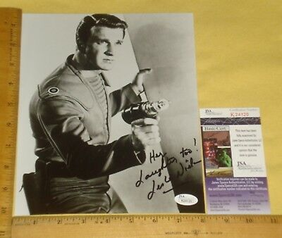 "REAL JSA Authentic Leslie Nielsen Signed 8""X10"" B&W Promo Photo James Spencer"
