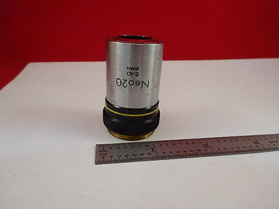 Microscope Part Olympus Japan Objective Neo 20X Optics  As Is #M6-A-51