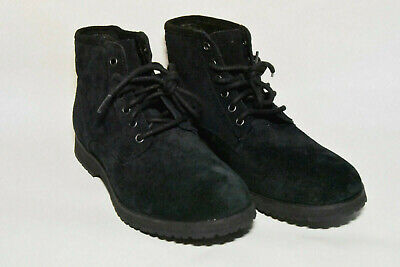 55a1f0478 UGG Australia Moreau Suede Military Boots Mens Lace Up Wool Insole Black  Size 8