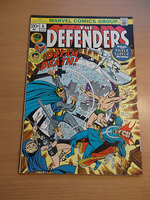 "Marvel: The Defenders #6, ""the Dream Of Death!"", Netflix , 1973, Vf+ (8.5)!!!"