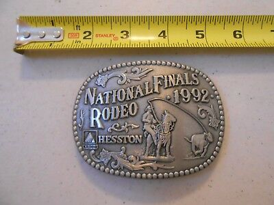 Vintage Limited Edition Hesston 1992 National Finals Rodeo Belt Buckle Agco Adm