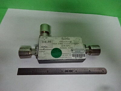 NARDA BROADBAND DIRECTIONAL COUPLER 18 GHz FREQUENCY RF MICROWAVE AS IS #7B-A-04