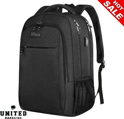 Laptop Backpack,Business Travel Bag Computer Rucksack Large With USB Charging