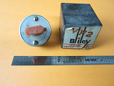 Vintage Wwii Quartz Crystal Bliley Variable 3548 Kc Frequency Vf2 +Box Bin#D3-30