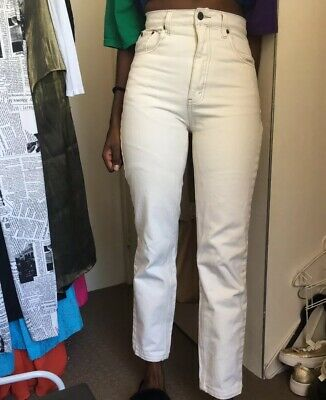 Off White High Waisted Denim Just Jeans Size 9