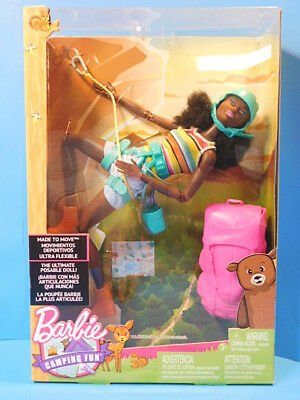 Barbie Rock Climber Doll African American Made to Move  New! Articulated