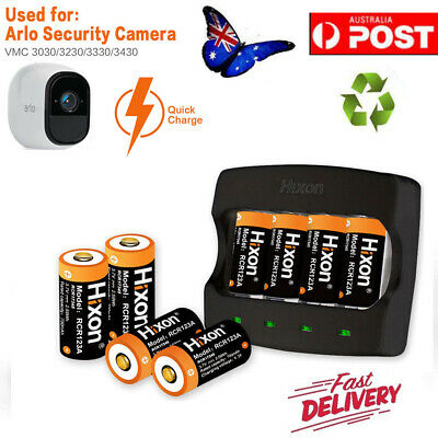 4/8/12pc 3.7V 16340 Battery Arlo Reolink CR123A Rechargeable Batteries & Charger