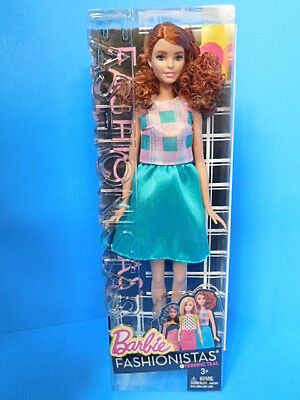 Barbie Fashionistas Doll Evolution Tall  Curly Red Hair Terrific Teal  #29 New!