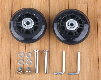 "Luggage Suitcase Replacement Wheels OD 70 (2.76"") ID 6 W 24 Axles Repair Set AU"