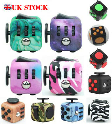 UK Fidget Cube / Spinner Toy Children Desk Toy Adults Stress Relief Cubes*ADHD