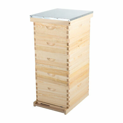 10-Frame Size Beekeeping Kit Bee Hive Frame/Beehive Frames w/queen excluder