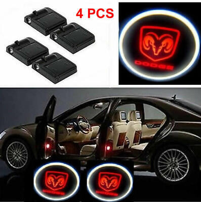 4X Wireless Car Door Led Welcome Projector Logo Ghost Shadow Light DODGE ram RED