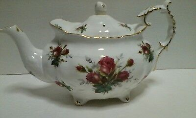 Hammersley Fine Bone China Teapot Victorian Flowers Pink Roses Made In England
