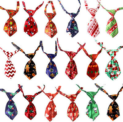 Christmas Xmas Pet Dog Cat Neck Tie Collar Adjustable Costume Party Outfit NEW!