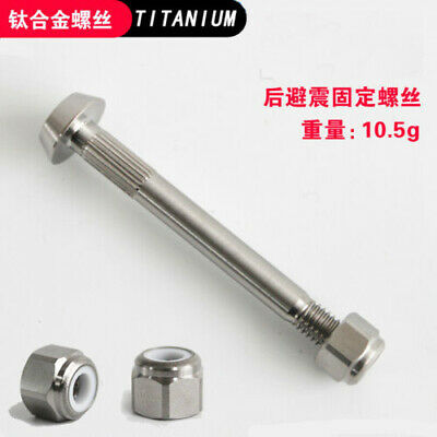 2pcs Cylindrical Titanium M6 Nuts For bicycle Seatpost Bolts DIA9mm x LEN15mm