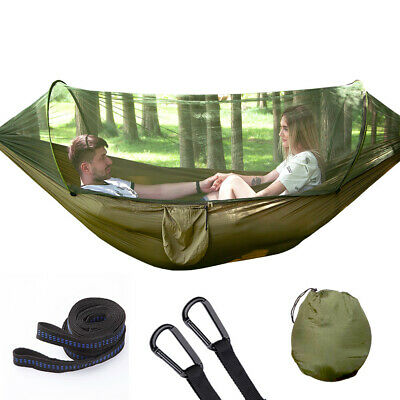 Portable Automatic Hammock with Mosquito Net Netting Hanging Bed Outdoor Camping