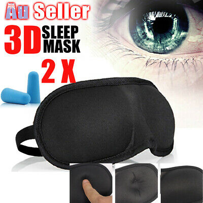Sleeping Sleep Eye Mask soft Memory Blindfold Foam Cover 3D Padded Shade Travel