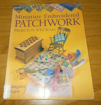 Embroidery Book~Miniature Embroidered Patchwork~M Major~1/12 Scale~Dolls House