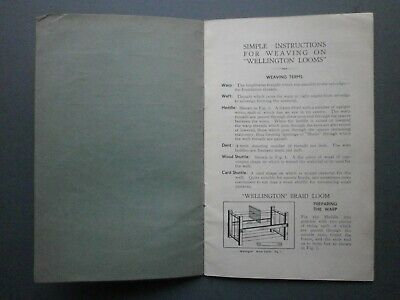 "1935 ""weaving On Wellington Looms"" From L. C. Tayor Ltd Of Leicester P/b"
