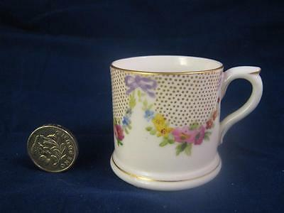 Stunning Antique Royal Worcester Miniature Tankard / Cup / Mug Hand Painted 1912