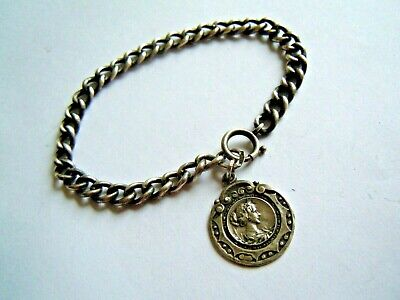 very RARE imperial Russian 84 Silver Bracelet with pendant by Faberge design