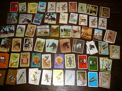 swap cards vintage horses birds owls pheasants mixed lot some coles maybe?