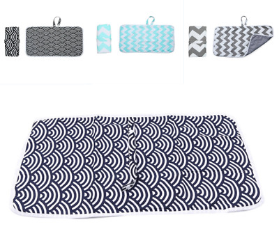 Baby's Portable Travel Folding Cotton Diaper Changing Pad Waterproof Diaper Mat