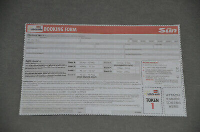 The Sun Legoland 2 Tickets Offer - Paper Spare Token No. 1 With Booking Form