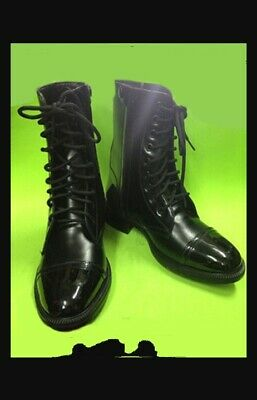 dd6acf96c57 BALMAIN MEN'S BLACK Taiga Leather and Velvet Combat Boots - $350.00 ...
