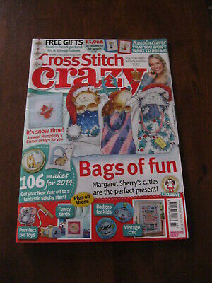 Cross Stitch Crazy: Issue185 /2014: Inc: Bags of Fun    :Preloved