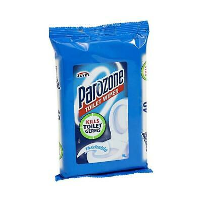 Parazone Toilet Wipes 40 wipes per pack Kills Germs Flushable Cleaning Bathroom