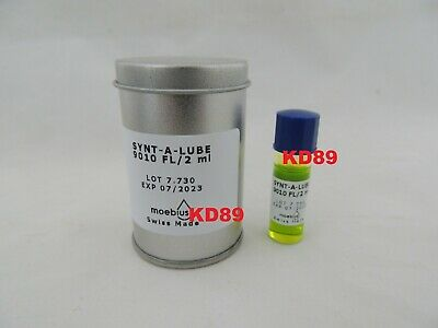 Synthetic Oil lubricants Moebius 9010 FLUO for watchmakers  SWISS MADE 07/2023