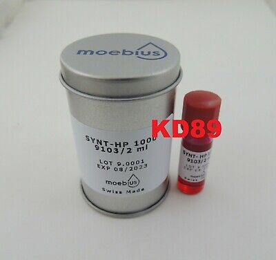 Synthetic oil Moebius Synt-HP 1000 9103 2ml for mechanical watches SWISS 08/2023