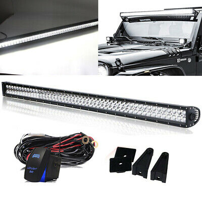 52Inch Combo LED Light Bar + Wiring Kit OFFROAD SUV 4WD For FORD JEEP 50""