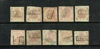 Italian States Naples Early Used Stamp Selection
