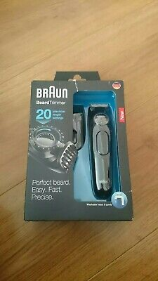 Braun  Beard/Hair Cordless Rechargeable Trimmer Shaver w Adjustable Length