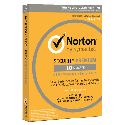 Norton Security Premium 2019 10 Geräte 1 2 oder 3 Jahre Download Vollversion
