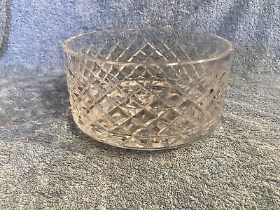 """Vintage Waterford Crystal Made In Ireland Old Mark 7"""" Alana Bowl Acid Etch"""