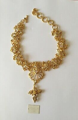 Collier Ras De Cou Vintage Haute Couture Christian Lacroix Made In France