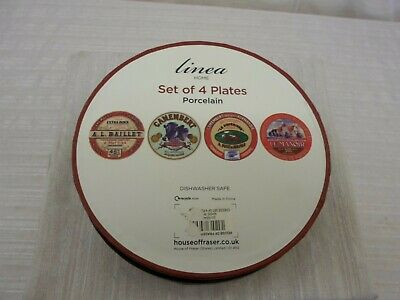 Linea Set of Four Porcelain Plates. Boxed in Excellent Condition. O-0113-JBC-W16