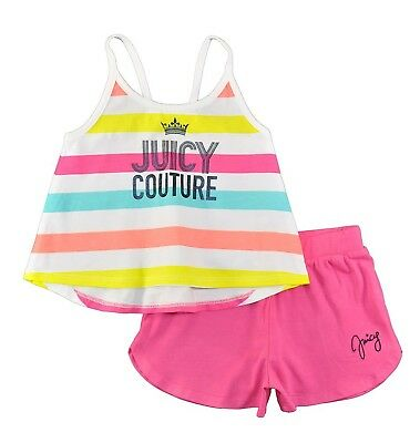Juicy Couture Littke Girls' Two-Piece Short Set (4T, Multi Color)