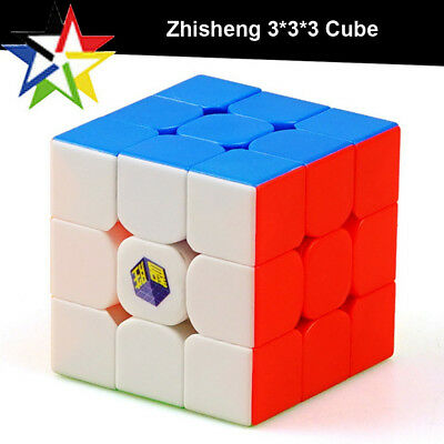 Zhisheng Yuxin 3x3x3 Magic Cube Stickerless Colorful Speed Cube Twist Puzzle