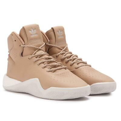 brand new 68735 5cf07 adidas originals Tubular Instinct Boost Leather Brown Shoes Mens Trainers  BB8400