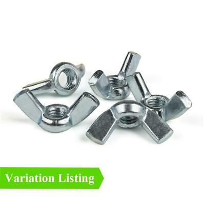 Butterfly Wing Nuts High Grade Bright Zinc Plated for Metric Set Screw Bolts