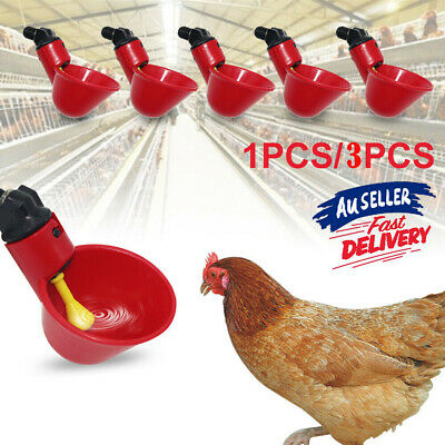 1pc/3pcs Automatic Cups Water Feeder Drinker Chicken Waterer Poultry Chook Bird