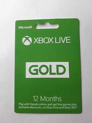XBOX Live Gold 12 month membership/subscription