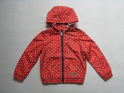 BNWT NEXT Girls Red Spotted Bomber Rain Mac/Coat With Hood 3-4 RRP £26