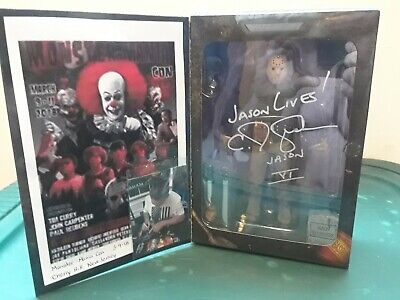 Friday The 13Th 7'' Scale Action Figure Ultimate Part 6 Jason Autographed!!!