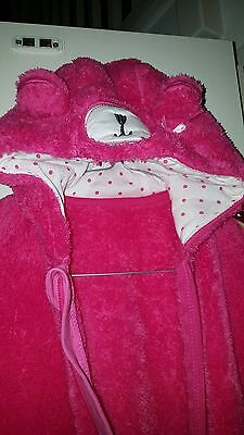 NEW Cute girls pink fluffy Bodysuit Snuggle Suit Jump Suit 3 / 4 years